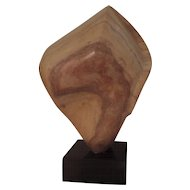 Mid Century Modern Carved Marble Abstract Sculpture in the Form of a Torso Bust