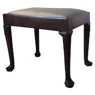 Period Antique 18th century English Queen Anne Mahogany Stool