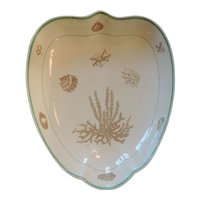 Antique English George III 18th century Neale & Co. Shell Decorated Creamware Dish