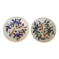 Pair Antique 18th century Duesbury Derby Kakiemon Imari English Porcelain Plates