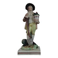Antique 18th century Staffordshire Pearlware Figure of a Gardener