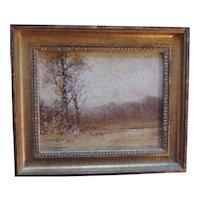 Edward Loyal Field (1856 - 1914) 19th century Tonal Landscape Oil Painting on Board