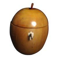 Antique 19th century English Wood Apple Form Tea Caddy