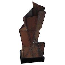 Mid Century Modern Eames Era Welded Iron Sculpture Vase