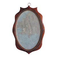 Small Antique Late 18th / Early 19th century English Mahogany Georgian Wall Mirror