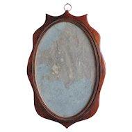 Small Antique Late 18th / Early 19th century English Mahogany Georgian Wall Mirror