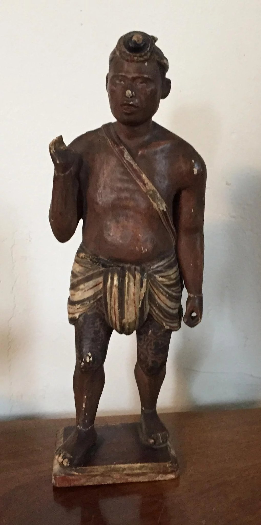 Antique 19th c. Ethnographic Tribal Carved and Paint