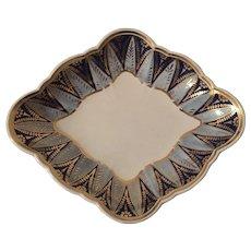 Antique Early 19th century Creamware English Regency Wedgwood Pearlware Diamond Shaped Dish