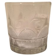 Antique 18th century Cut Flint Glass Whiskey Tumbler Glass