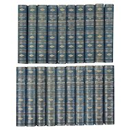 """Fine 19th century Leather Bindings """"The Works of George Eliot"""" 20 Volumes Books"""