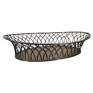 Antique Early 19th century Old Sheffield Silver on Copper Woven Basket 1810