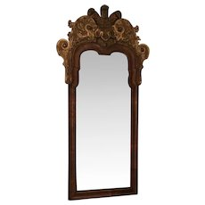 Antique 18th century English George II Walnut Gilt Wood Pier Mirror c. 1740