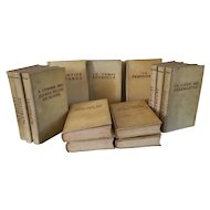 Fine Leather Bindings - Marcel Proust Works in French 13 Volumes Each Book Bound in Full Vellum 1930