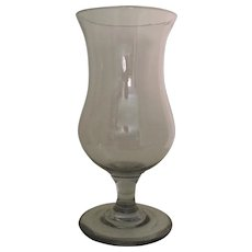 Antique 19th century American Free Blown Baluster Shape Footed Glass Vase Lead Flint 1830