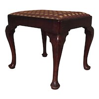 Antique 18th century George II Walnut Stool with Pad Feet