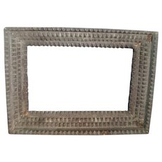 Antique Early 20th century American Tramp Art Carved Wooden Picture Frame