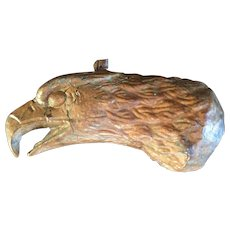 Antique 19th c. Hammered Copper Eagle Head Weathervane Fragment