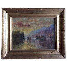 Morris Seymour Bloodgood (1845 - 1920) Hudson River Landscape Oil Painting