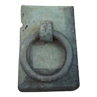 Large antique 19th century American Cast Iron Carriage Wagon Sleigh Buggy Weight Horse Tether Hitching Post Doorstop