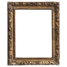 Small Antique 18th century French Regence Carved Giltwood Picture Frame for Old Master Oil Painting or Drawing