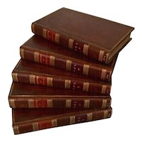 Memoirs of the Duke of Sully Prime Minister to Henry the Great Fine Leather Bindings Set of Five Books 1810