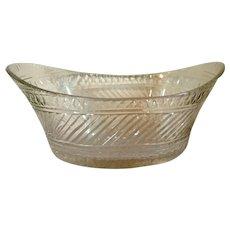 18th century English Georgian Anglo Irish Lead Crystal Cut Glass Compote Bowl Centerpiece 1790