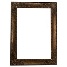 Vintage Large Deep Carved Gilt Gesso & Wood Italian Renaissance Style Picture Frame for Oil Painting or Mirror