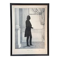 William Brown Kellogg Framed Silhouette Print of US Senator Henry Clay