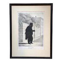 William Brown Kellogg Framed Silhouette Print of Thomas Cooper