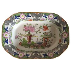 Antique Early 19th century English Regency Mason's Ironstone Vegetable Bowl Deep Serving Dish Chinese Table & Flower Pot Pattern 1820