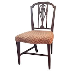 Antique 18th century Philadelphia American Federal Carved Neoclassical Mahogany Side Chair 1790 - 1800 - John Aitken - Mount Vernon