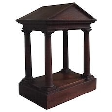 Antique 19th century Mahogany Grand Tour Classical Architectural Model of a Greek Temple in the Palladian Taste