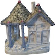 Extremely Large Antique Early 19th century English Staffordshire Pearlware Pottery Sheep Barn & Cottage