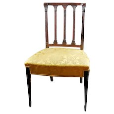 Antique Late 18th / Early 19th century American Federal Classical Mahogany Side Chair with Column Back 1795 - 1805
