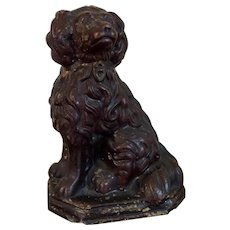Large Antique 19th century Brown Sewer Tile Terra Cotta Staffordshire Spaniel