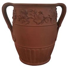 Antique Early 19th century George III Wedgwood Terracotta Rosso Antico Wine Bottle Cooler Urn in the Egyptian Taste