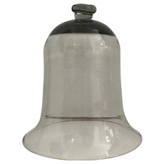Antique 19th century French Blown Glass Bell Jar Garden Cloche or Dome