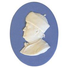 Antique 18th century George III Wedgwood Solid Jasperware Portrait Plaque Medallion of Benjamin Franklin
