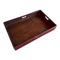 Antique 18th century English George III Mahogany Butler's Tray 1800