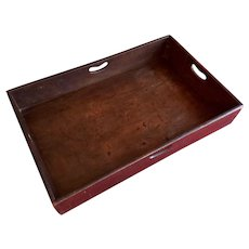 Antique 18th century English George III Mahogany Butler's Tray 1800