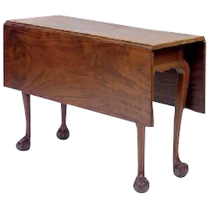 New York Chippendale Drop Leaf Dining Table In Walnut With Ball Claw Feet C 1780
