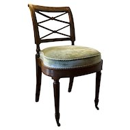 Antique Early 19th century American Federal Mahogany Chair Duncan Phyfe School New York 1810
