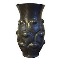 French Aesthetic Movement Pewter Vase Alice & Eugene Chanal Art Deco France 1920