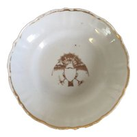 Antique Early 19th c. Chinese Export Porcelain Saucer Plate with American Market Federal Eagle 1800 - 1810 Philip Dubey Provenance