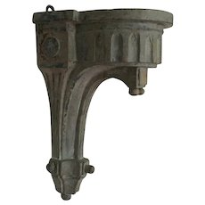Antique 18th century French Carved Wood & Paint Decorated Directoire Wall Bracket Shelf - Albert Hadley Provenance