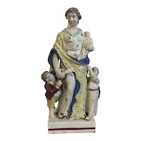Antique 18th century Marked Wedgwood Pearlware Figure of Charity