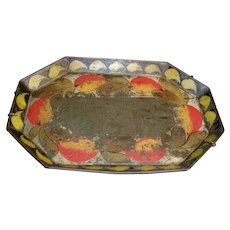 Antique Early 19th century American Federal Paint Decorated Tole Tray 1820