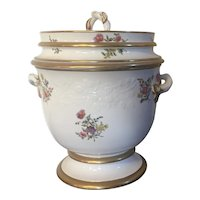 Antique Early 19th century English Spode Porcelain Fruit Cooler Ice Pail Cachepot