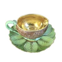 Antique Early 19th century French Empire Paris Porcelain Cup and Saucer for Chocolate Cocoa or Coffee by Dagoty circa 1815