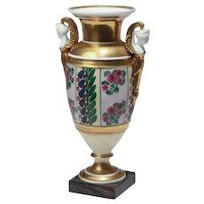 Antique Early 19th century French Empire Paris Porcelain Vase Urn